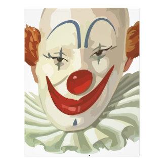 läskig clown brevhuvud