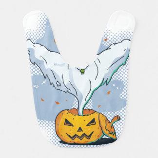Läskig Halloween spöke med pumpa