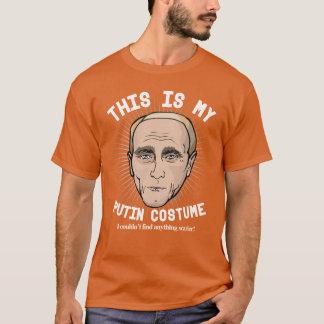 Läskig Vladimir Putin Halloween dräkt Tee Shirt
