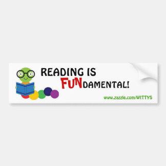 Läsning är grunden - bildekal