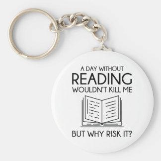 Läsning Rund Nyckelring