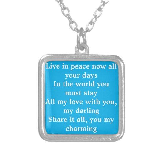 Last Verse of My Darling Silverpläterat Halsband