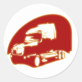 lastbil runt klistermärke