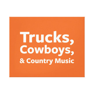 Lastbilar, Cowboys och countrymusik Canvastryck