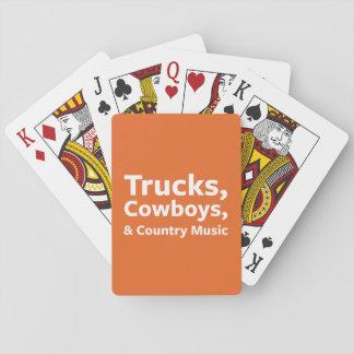 Lastbilar, Cowboys och countrymusik Spel Kort