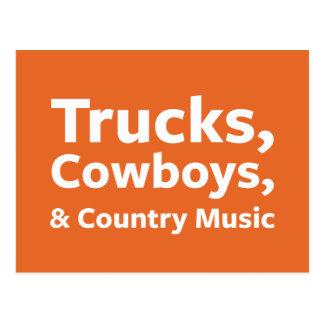 Lastbilar, Cowboys och countrymusik Vykort
