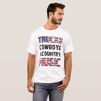 lastbilcowboys och countrymusik t shirts