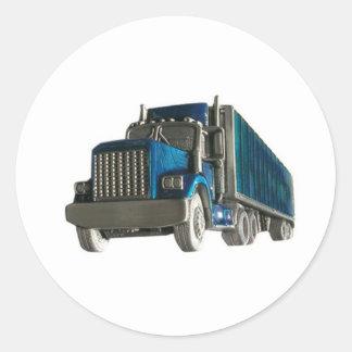 lastbilkörning runt klistermärke