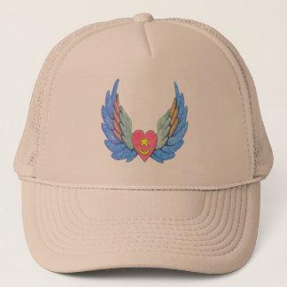 Lastbilsförare hatt med bevingad hjärta truckerkeps