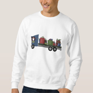 Lastbilsförare Santa Långärmad Tröja