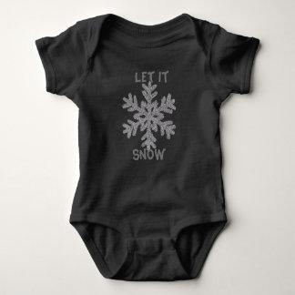 Låt det snöa babybodysuiten tee