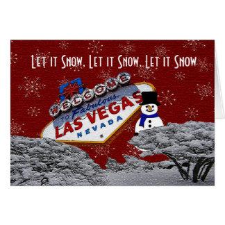 Låt det snöa den Las Vegas julkortet Hälsningskort