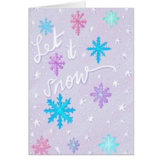 Låt det snöa hälsningskort