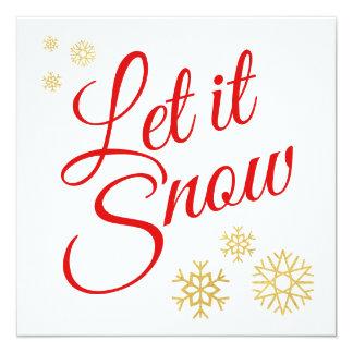 Låt det snöa jul fyrkantigt 13,3 cm inbjudningskort