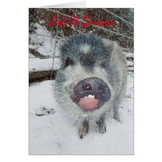 Låt det snöa julgriskortet hälsningskort