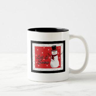 Låt det snöa julmuggen Två-Tonad mugg