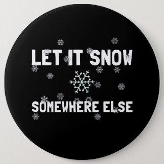 Låt det snöa jumbo knapp rund 15.2 cm