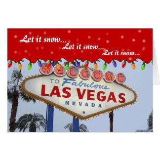 Låt det snöa. Las Vegas kort