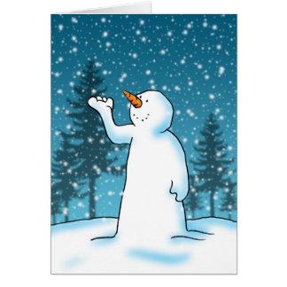 Låt det snöa, låt det snöa, låt det snöa! hälsningskort