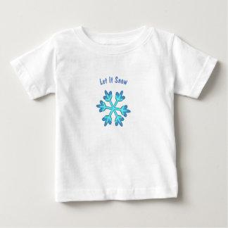 Låt det snöa med snöflingor 3D T-shirt
