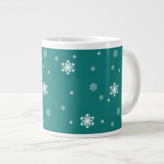 Låt det snöa snöflingormönster på krickan som jumbo mugg