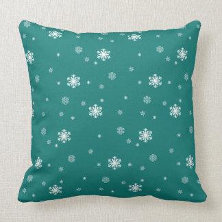 Låt det snöa snöflingormönster på krickan som kudde