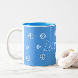 Låt det snöa Två-Tonad mugg