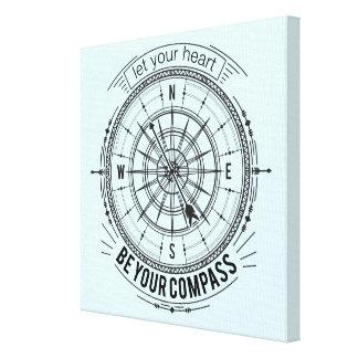 Låt din hjärta vara din kompass canvastryck