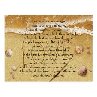 Låt din kärlek vara starkare vykort