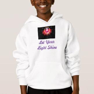 Låt din ljusa skenungehoodie tröja