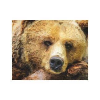 Lat Grizzlybjörn Canvastryck
