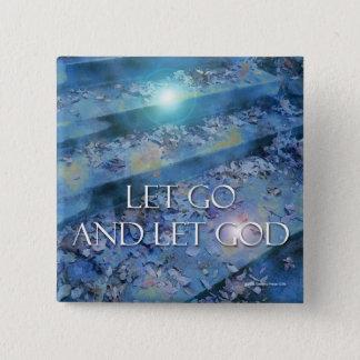 Låt guden knäppas standard kanpp fyrkantig 5.1 cm