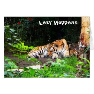 Lat händer den Siberian tigern Hälsningskort