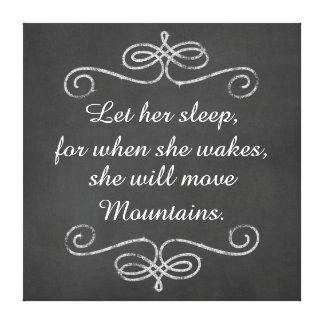 Låt henne sova henne ska kanfas för canvastryck