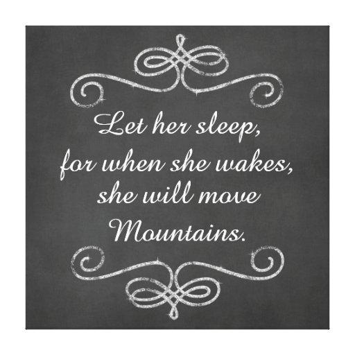 Låt henne sova henne ska kanfas för flyttningbergc sträckt canvastryck