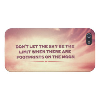 Låt inte himmlen vara begränsa… iPhone 5 cover