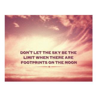 Låt inte himmlen vara begränsa… vykort