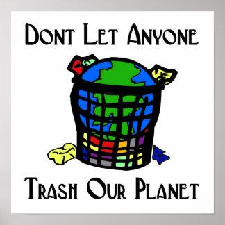 Låt inte någon kassera vårt planet poster