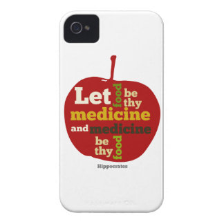 Låt mat vara thy medicin APPLE iPhone 4 Case-Mate Cases