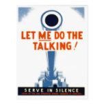 Låt mig göra den talande WWII-affischen Vykort