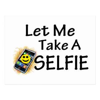 Låt mig ta en Selfie Vykort
