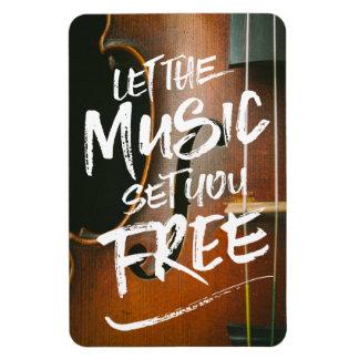 Låt musikuppsättningen dig fritt musikerfotomallen magnet