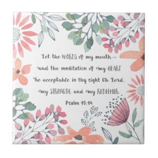 Låt ord av min mun - Ps-19:14 Kakelplatta
