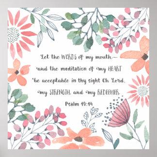 Låt ord av min mun - Ps-19:14 Poster