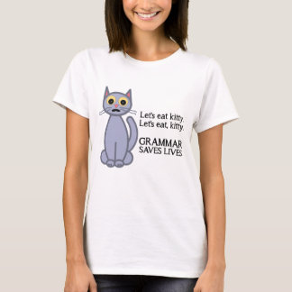 Låt oss äta kattunge t-shirts