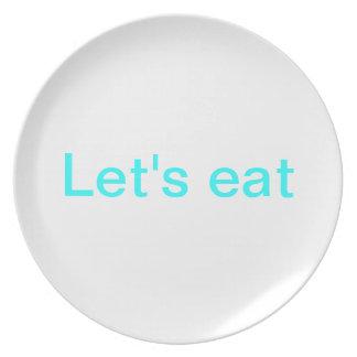 Låt oss äta pläterar tallrik