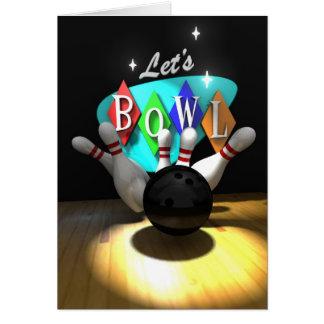Låt oss bowla! hälsningskort