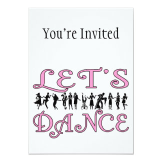 Låt oss dansa danspar 12,7 x 17,8 cm inbjudningskort