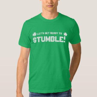 Låt oss få redo att snubbla - paddy'sdag t-shirts