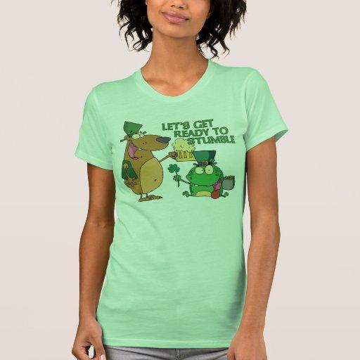 Låt oss få redo att snubbla tee shirts